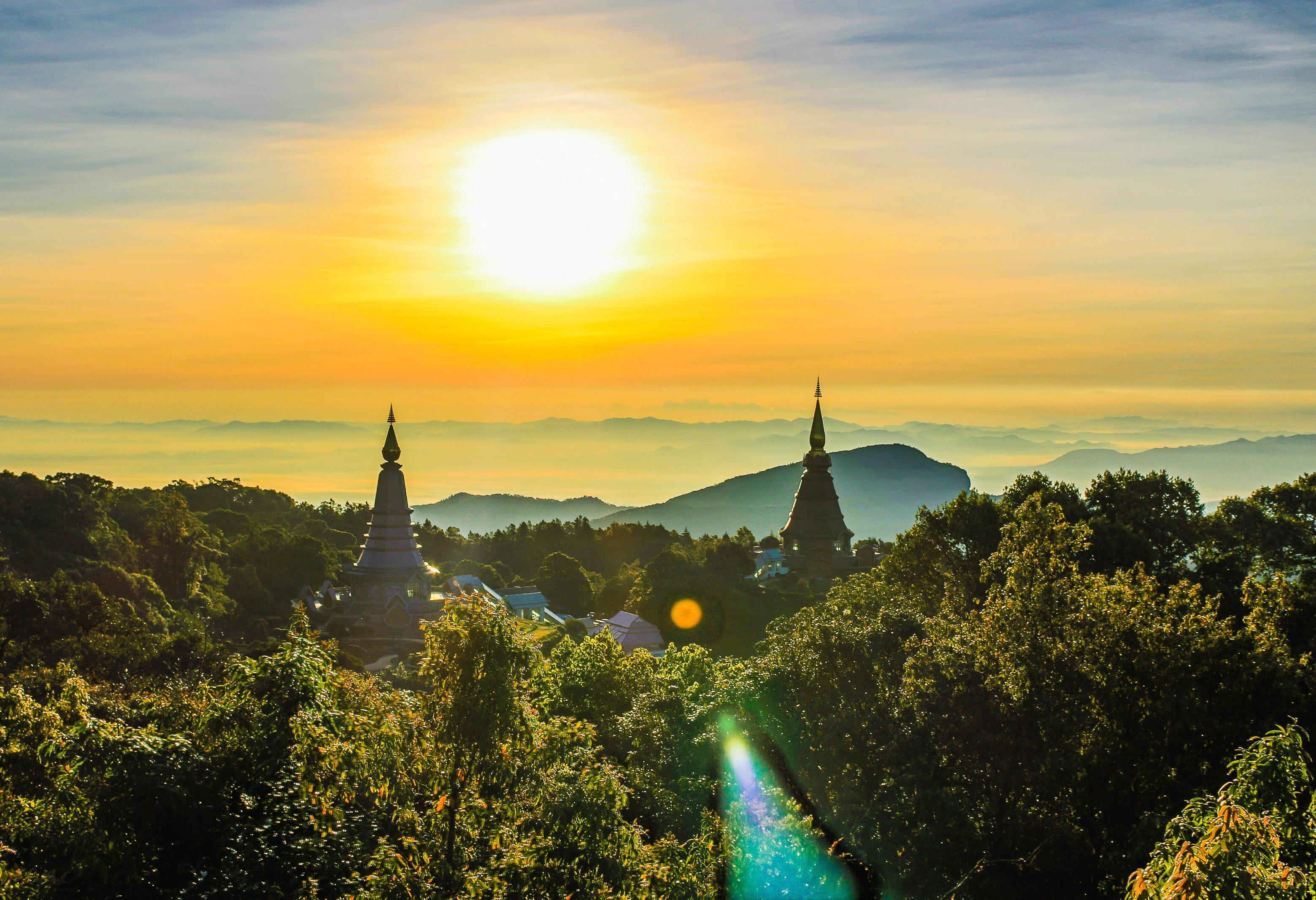 Doi Inthanon in de regio Chiang Mai in Thailand