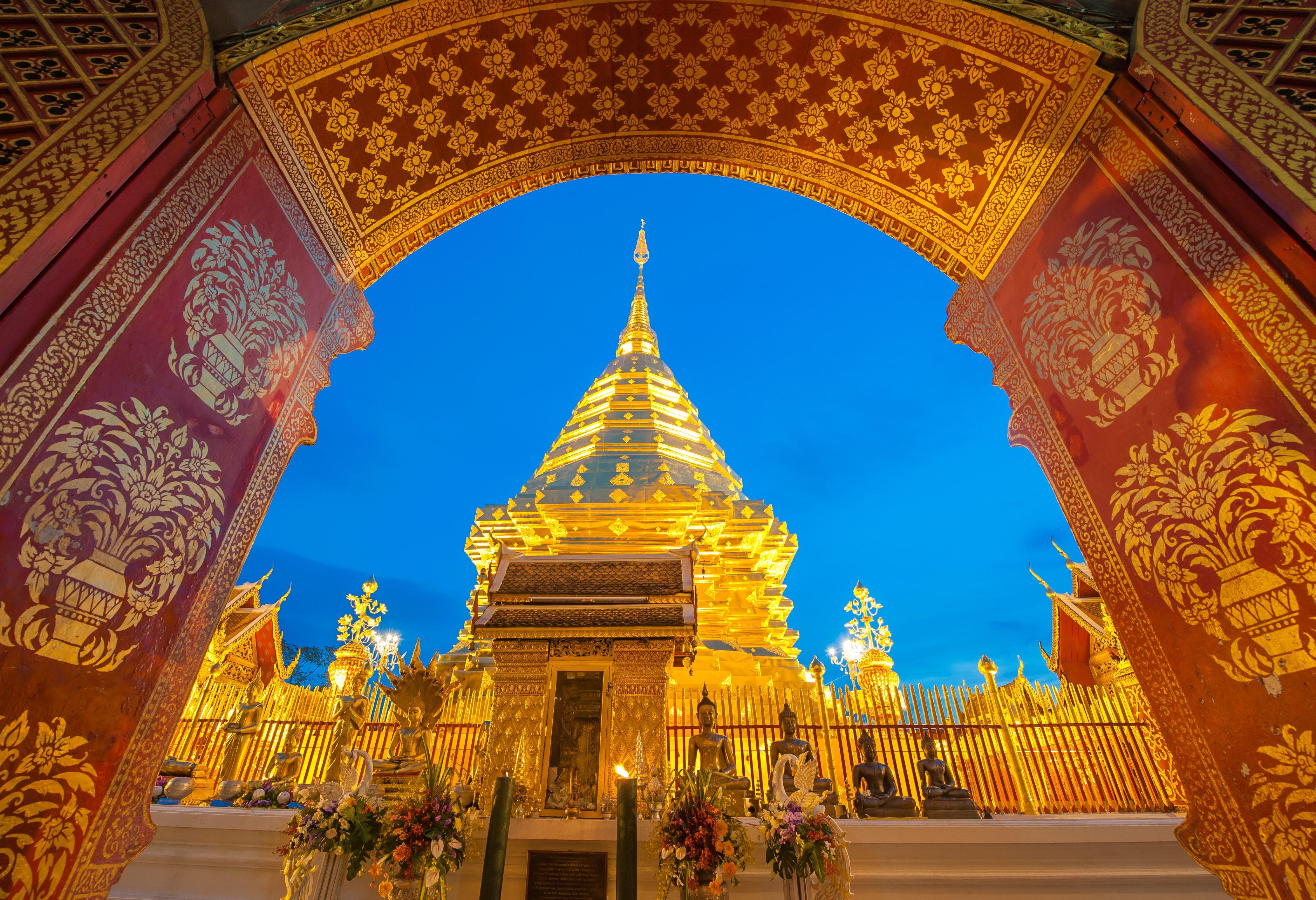 Wat Doi Suthep net buiten Chiang Mai in Thailand