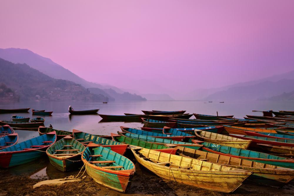 Pokhara aan het Phewa meer